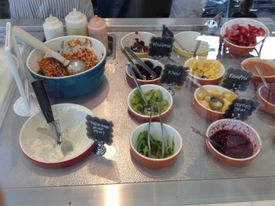 Jobs, and sometimes Apple headquarters, favored Fraîche Yogurt Cafe, with its varied and organic ingredients.