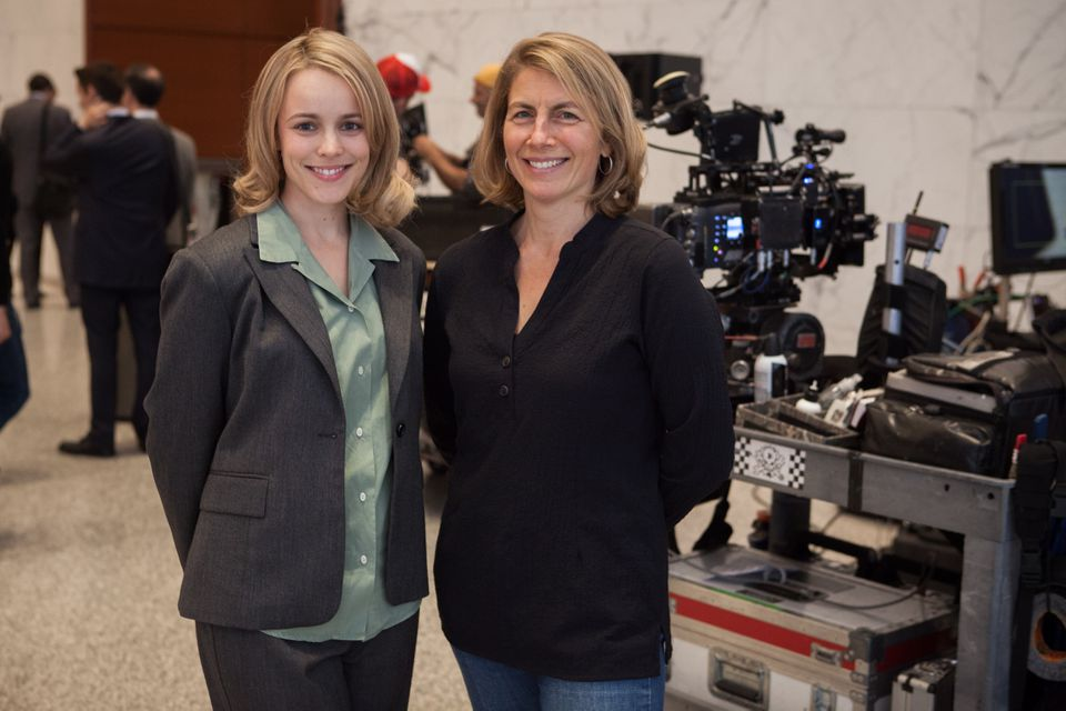 Rachel McAdams (left) and Sacha Pfeiffer.