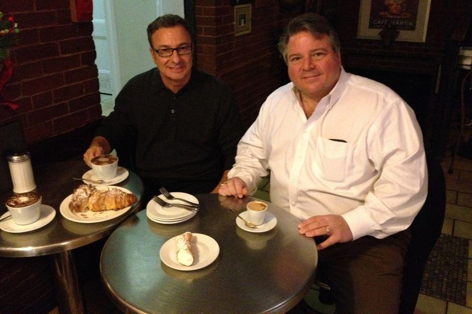 East Boston City Councilor Sal LaMattina (left) and Revere Mayor Dan Rizzo.