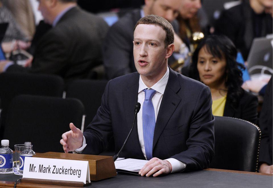 Facebook CEO Mark Zuckerberg testifies before a Senate panel in April.