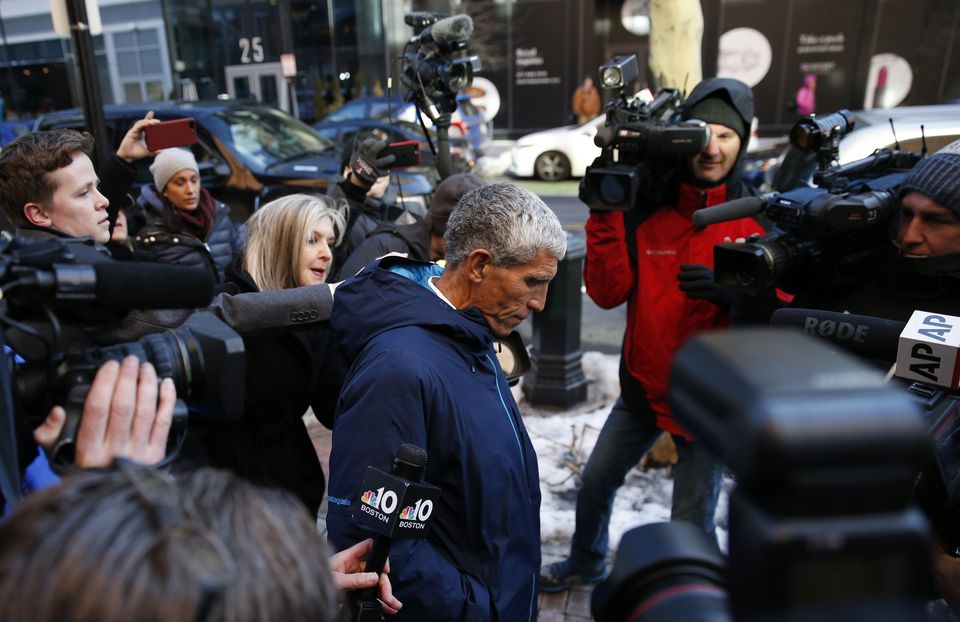"William ""Rick"" Singer left federal court in Boston Tuesday."