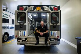 Scott Lash said his emergency medical services team must work longer shifts to manage longer transportation times.