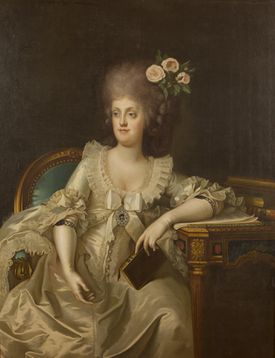 Camillo Landini's 1787 portrait of Maria Carolina of Austria, the politically savvy wife of the king of Naples and Sicily.