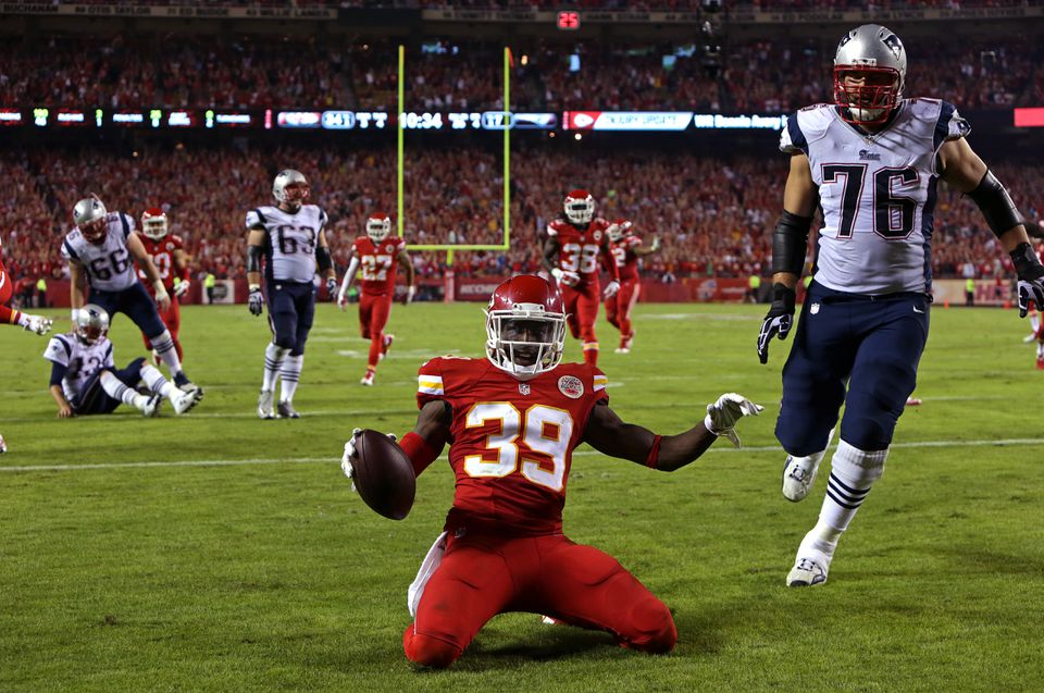 The Patriots have just one win in the franchise's last 10 visits to Arrowhead Stadium, taking a beating from Husain Abdullah and the Chiefs in their most recent visit in 2014.