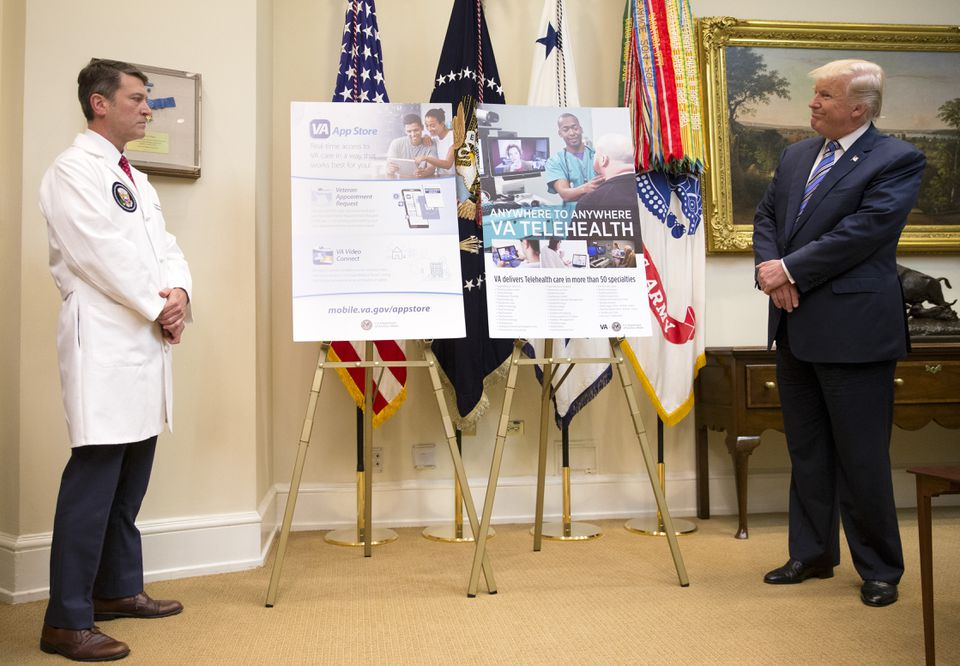 Dr. Ronny Jackson, a Navy rear admiral and current White House physician, conducted the president's physical.