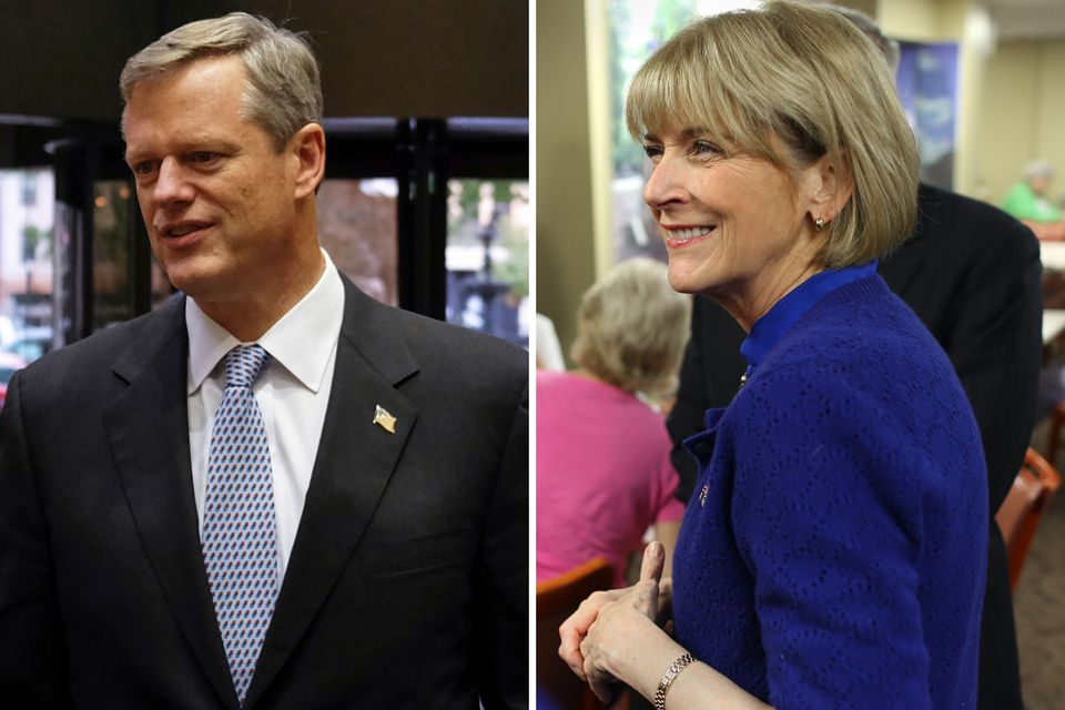 The poll reflects an October surge in independent voters toward Charlie Baker's column.