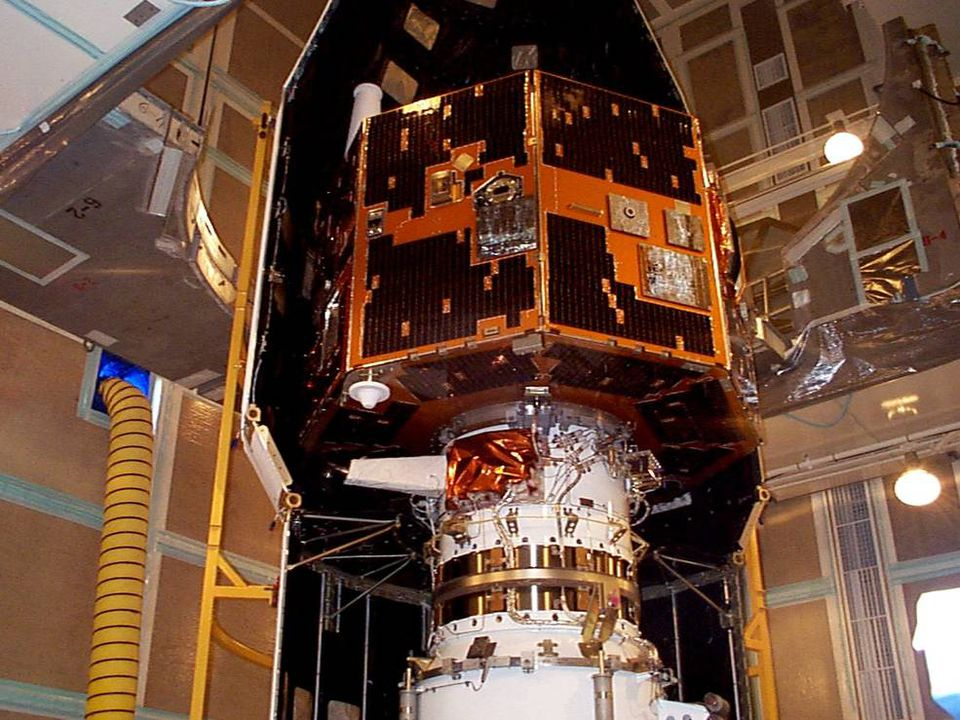 The IMAGE spacecraft undergoing launch preparations in 2000. NASA thought it was lost, but it has called home.