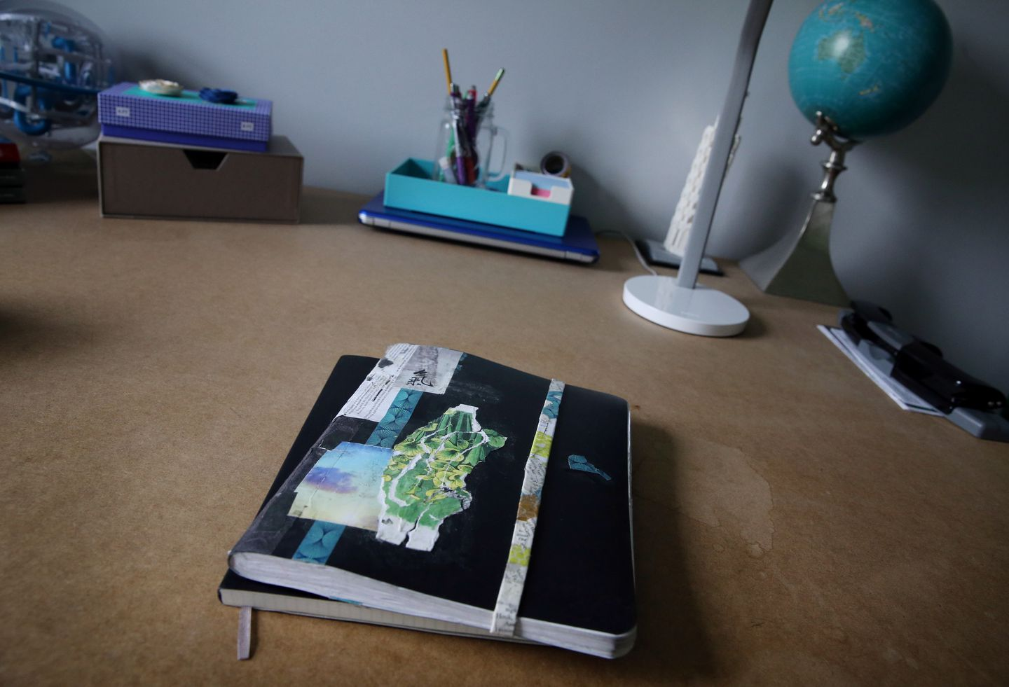 Alexandra's journal on the desk in her bedroom at her North Grafton home. She wrote hundreds of pages, many of them filled with harshly critical words about herself.