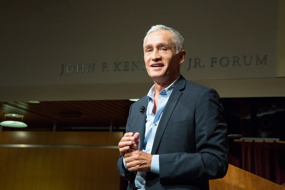 Jorge Ramos spoke Tuesday night at Harvard's Institute of Politics.