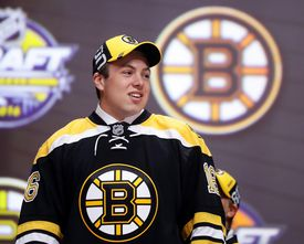 Top pick Charlie McAvoy is a good fit in a Bruins jersey.