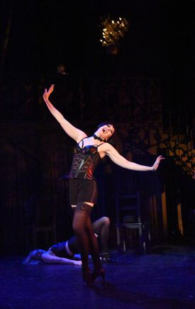 """Aimee Doherty portrays Sally Bowles in Moonbox Productions' """"Cabaret.''"""