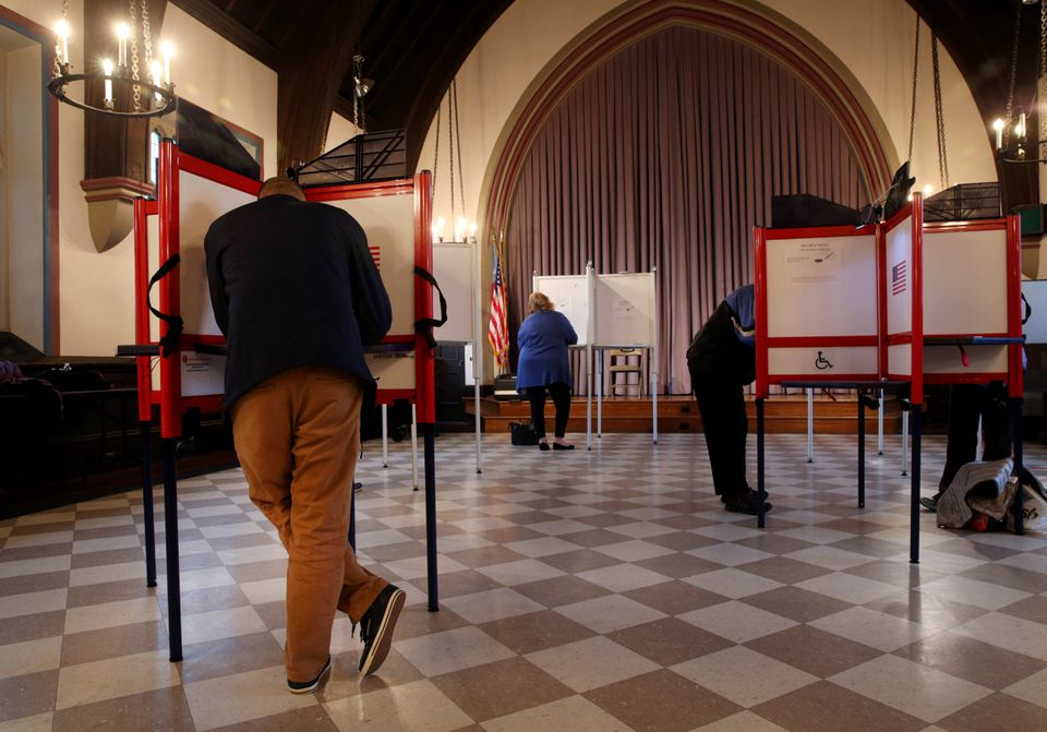 Residents of Ward 1, Precinct 2, voted at Grace Episcopal Church in Newton.