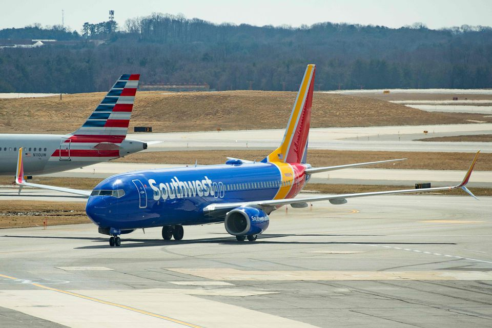 A Boeing 737 Max 8 flown by Southwest Airlines taxied to the gate at Baltimore Washington International Airport on Wednesday.