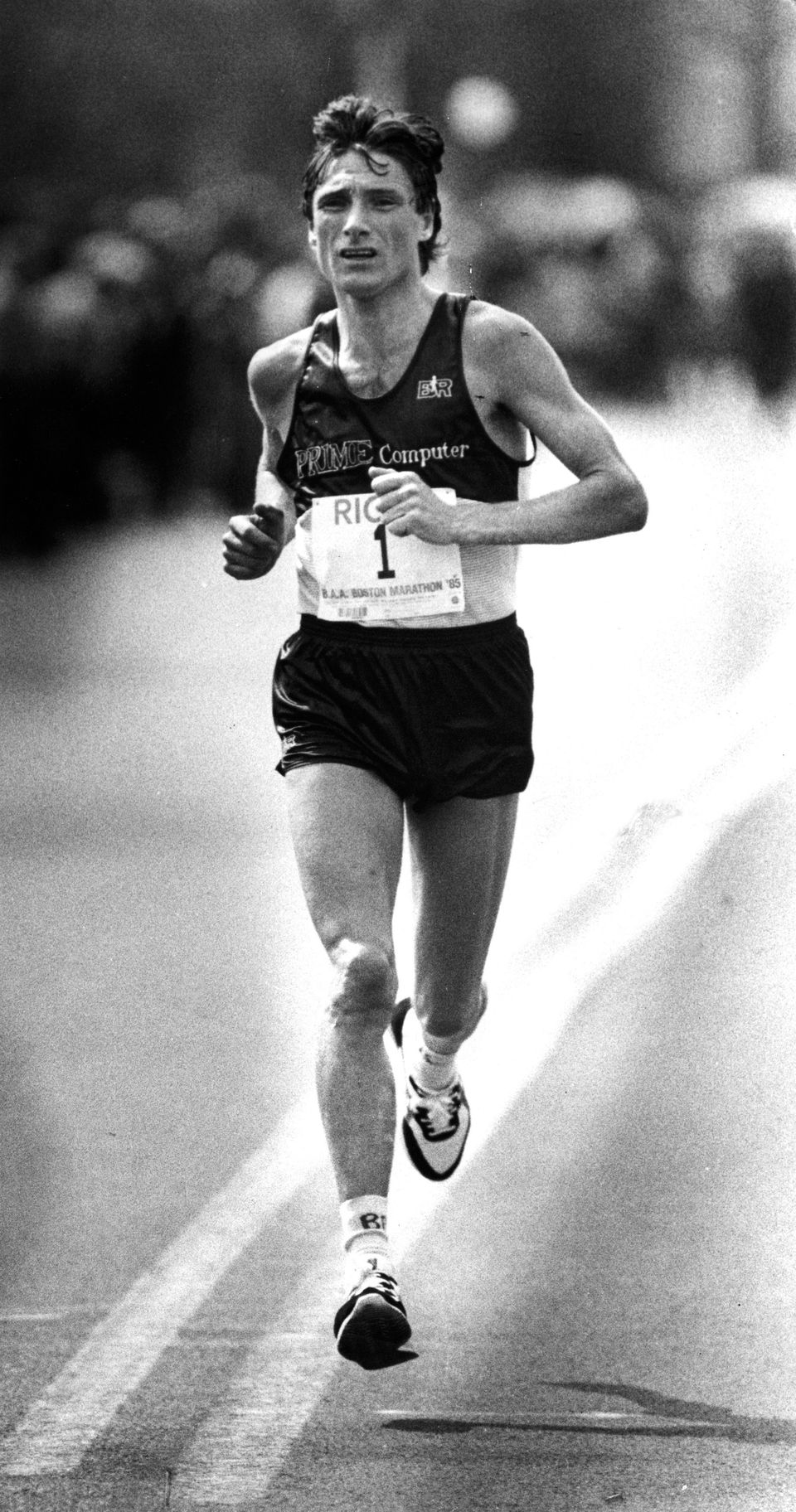 Geoff Smith, the 1985 winner, now works for a Rhode Island firm selling medals to races.