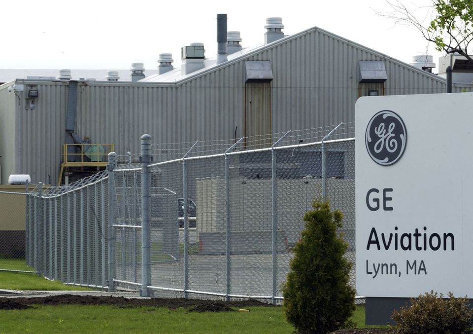 The entrance to General Electric Co.'s Lynn plant.