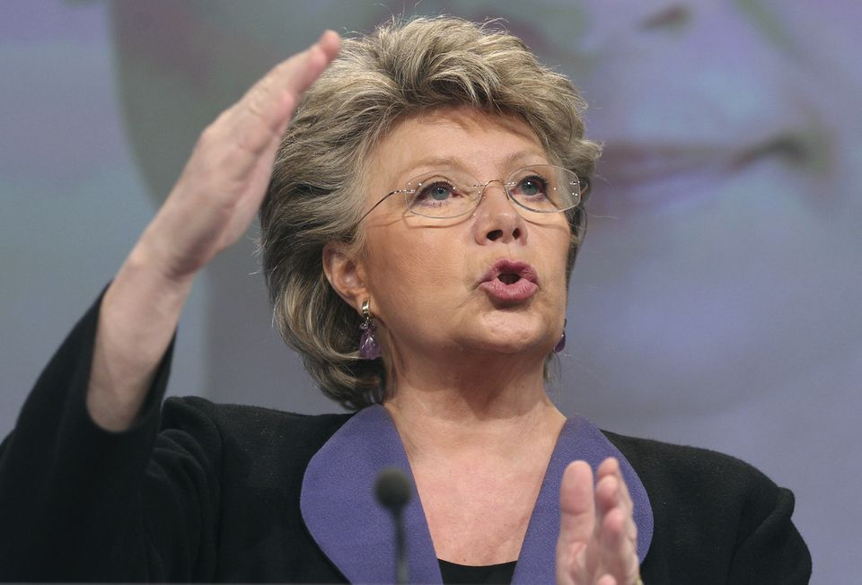 The EU's Viviane Reding says firms with equal representation of women on their boards outperform other companies.
