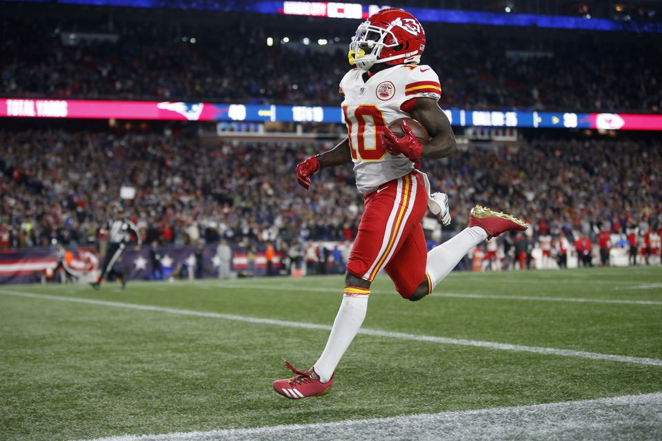 Tyreek Hill is entering the final year of his rookie contract, and the Chiefs had been building their roster to create enough salary cap flexibility to sign him to a long-term deal.
