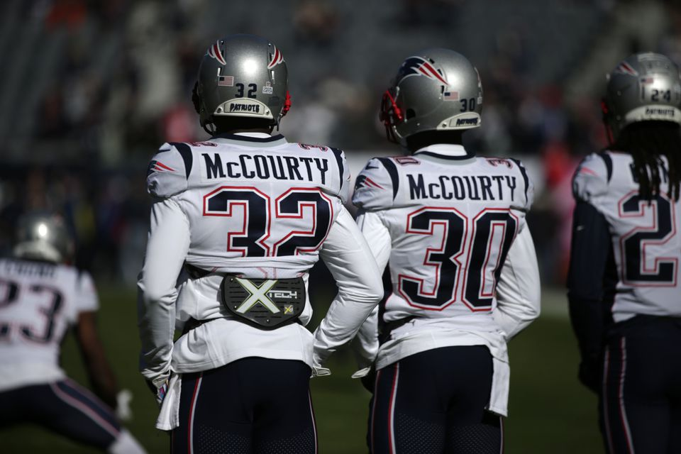 Devin McCourty (32) and Jason McCourty have been a success on and off the field for the Patriots this season.