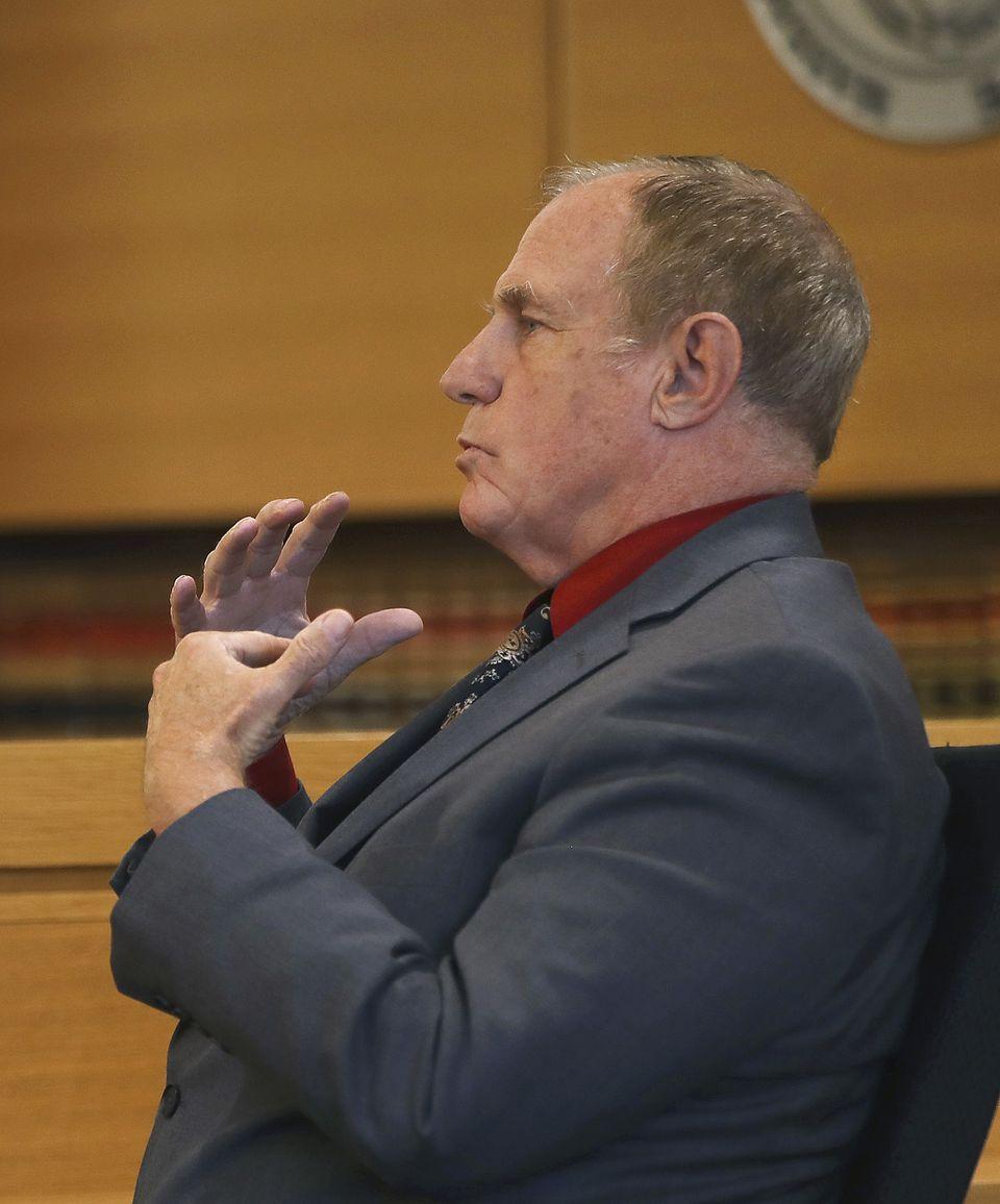 Retired Fairhaven Fire Department Lt. Walt Therrian testified.