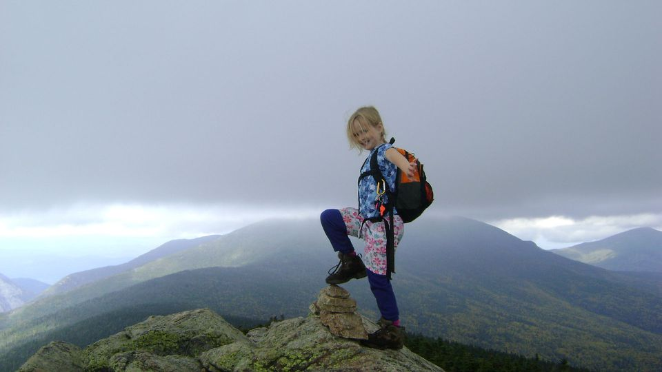 Alex Herr of Somerville atop Mt. Liberty in Franconia, N.H., in 2010.