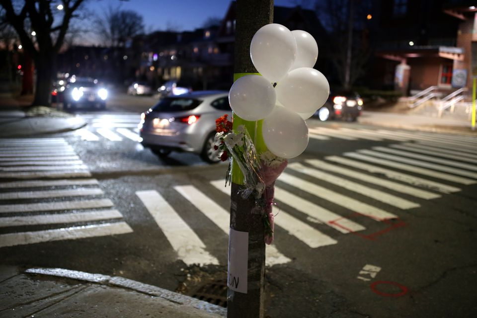 A memorial was placed at the corner of Powerhouse Boulevard and Hardan Road.