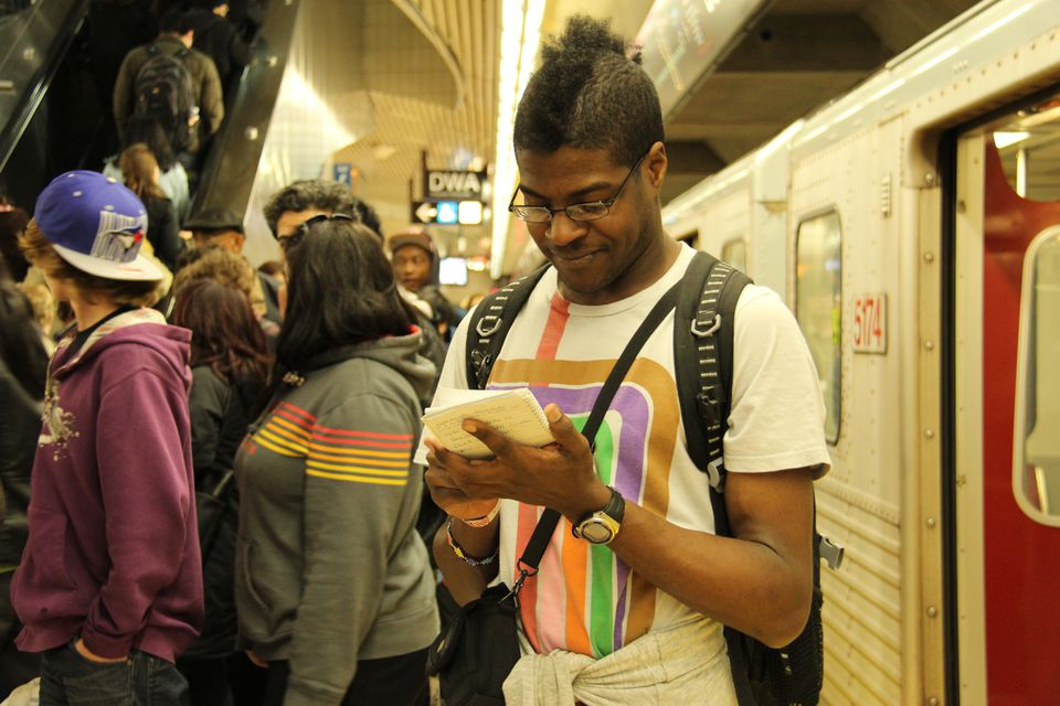 Adham Fisher attempted to set a speed record for riding the Toronto transit system in April.