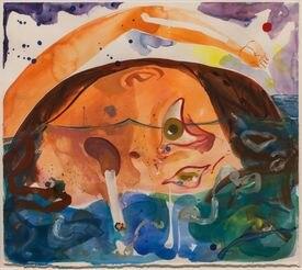 "In ""The Guston Effect"" show, Dana Schutz's ""Swim Smoke Cry."""
