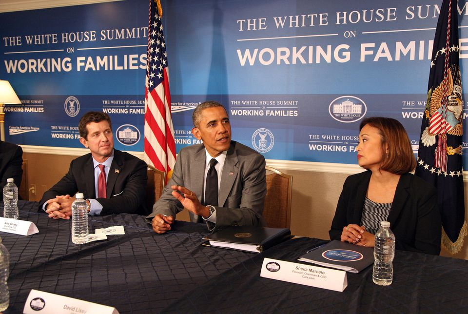 Care.com's CEO Sheila Lirio Marcelo joined President Obama at a June White House Summit on Working Families.