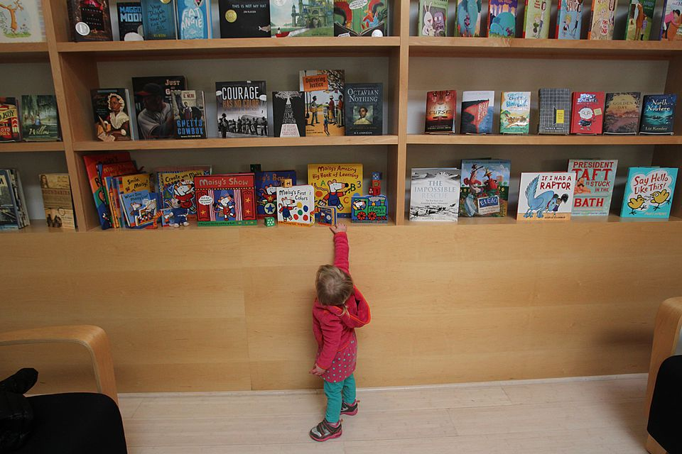 Lily Jones, nearly 2, was captivated at Candlewick Press, the children's book publisher that's won critical acclaim.