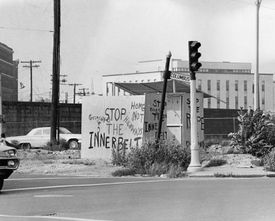 A shack erected at Ruggles Street and Columbus Avenue made the community's feelings known.