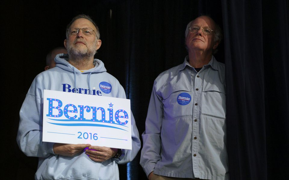 Ben Cohen (right) and Jerry Greenfield, the founders of Ben & Jerry's ice cream.