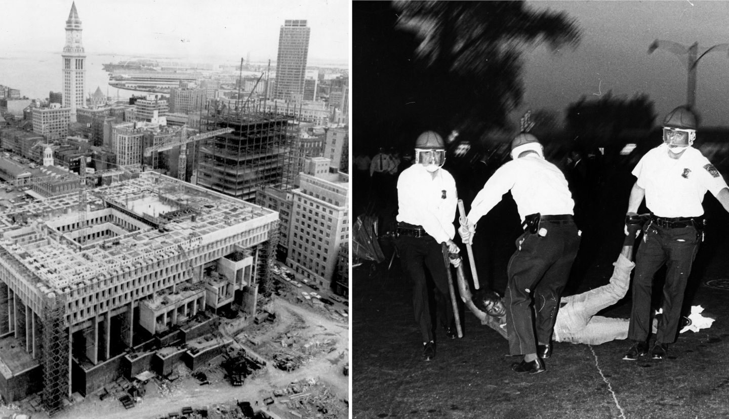 Boston in 1967 was a city fitfully emerging from its parochial past. A new City Hall was nearing completion on June 20. A few weeks earlier, Boston officers arrested rioters in Roxbury after violence swept across the neighborhood.
