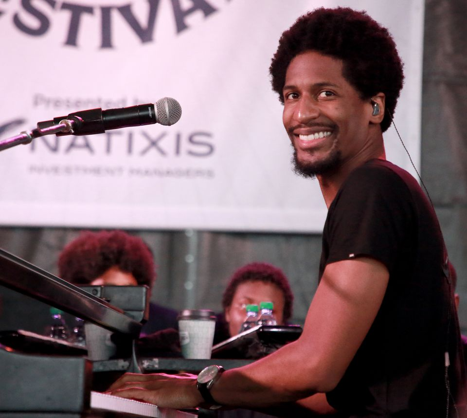 Jon Batiste at the Newport Jazz Festival.