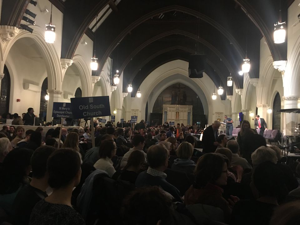 About 900 people attended the itnerfaith gathering at Bethel AME Church in Jamaica Plain.