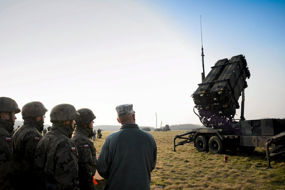 Polish and US soldiers observed a Patriot missile defense battery during exercises in Poland in March.
