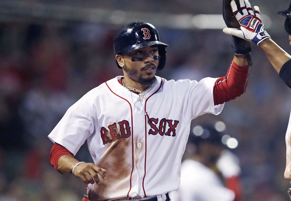 Mookie Betts is getting a lot of high-fives on social media.