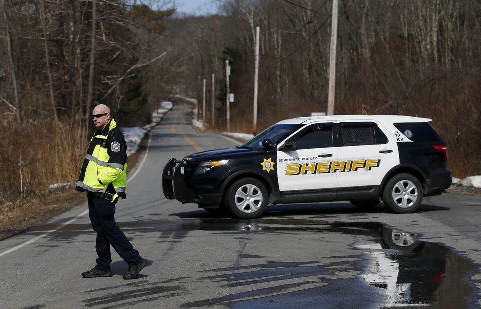 A Berkshire County Sheriff's cruiser blocked access to the scene on Thursday.