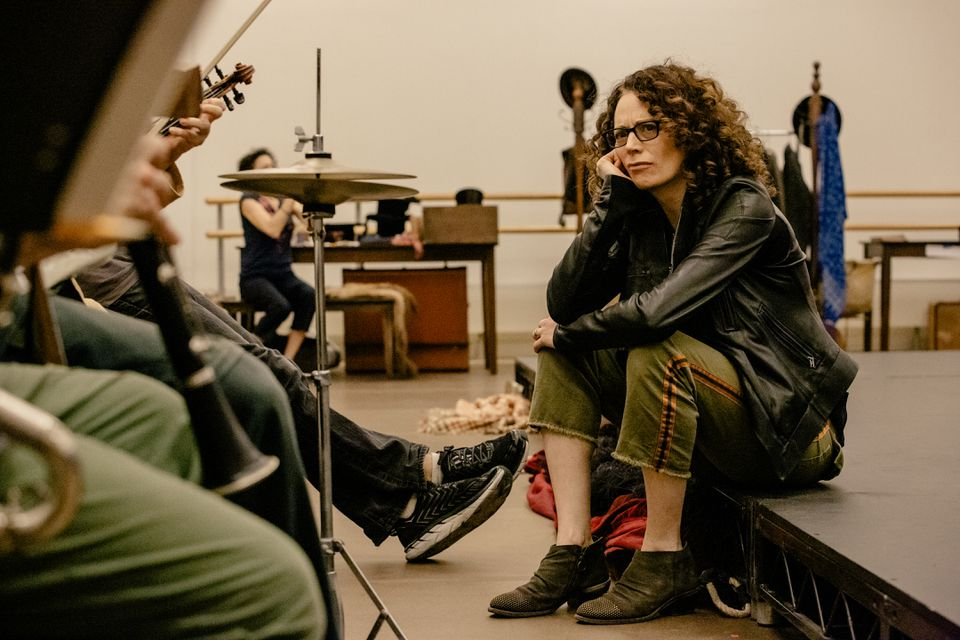 """Director Rebecca Taichman in rehearsal with the cast of """"Indecent"""" in New York."""