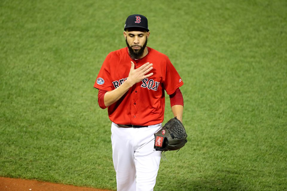 David Price appeared to be taking the blame after exiting in the second inning.