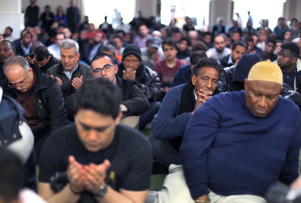 The Islamic Society of Boston Cultural Center hosted an emotional prayer service Friday.