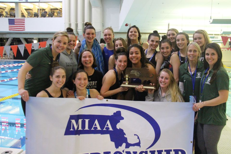 It was another banner day for the Duxbury girls' swim team — the Dragons captured their fifth straight South title.