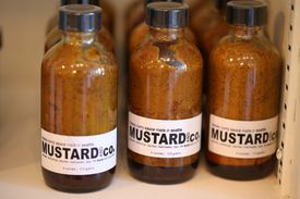 Curry sauce made by Mustard and Co. from Seattle.