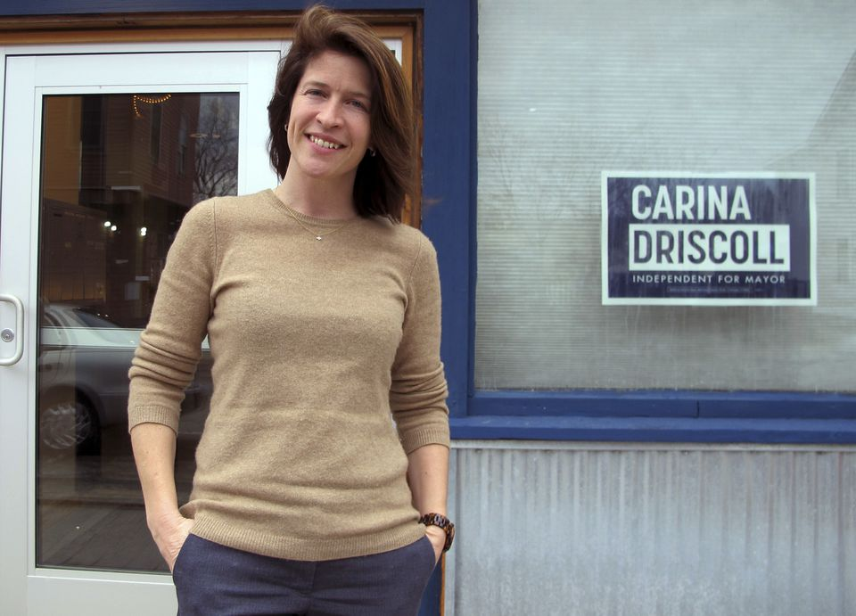 Carina Driscoll, stepdaughter of Senator Bernie Sanders,  is among those running for mayor against incumbent Democrat Mayor Miro Weinberger in the March 6 election.