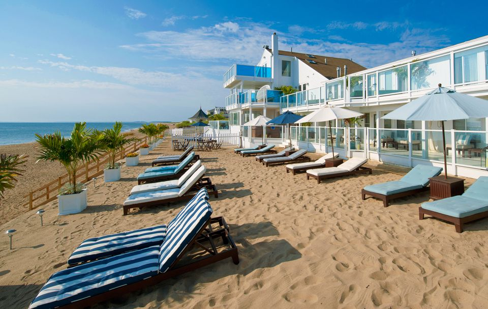 The inn has access to a private portion of the beach.