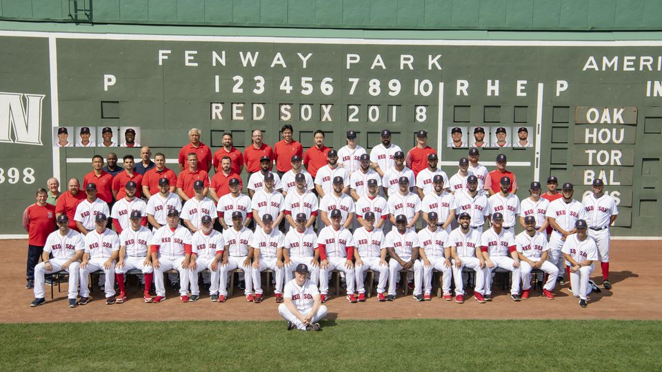 Members of the 2018 Boston Red Sox.