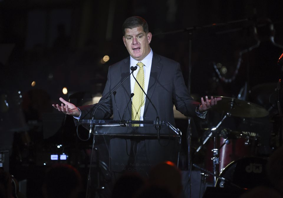 Boston Mayor Martin Walsh speaks at the Facing Addiction with NCADD (National Council on Alcoholism and Drug Dependence) gala at the Rainbow Room on Oct. 8 in New York.