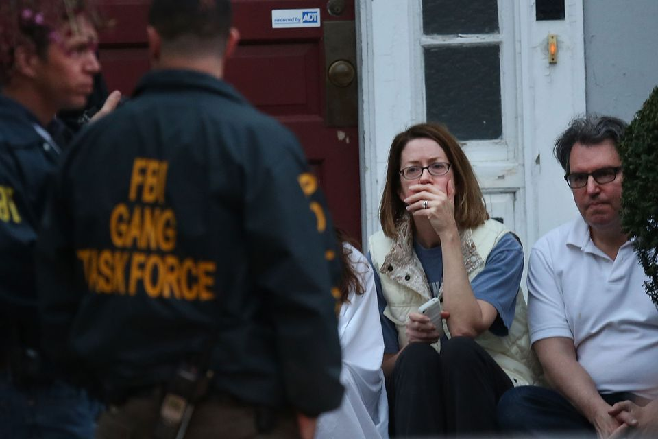 Residents who fled the area where Dzhokhar A. Tsarnaev is believed to be in hiding were comforted.