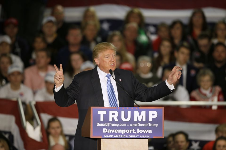 Republican presidential candidate Donald Trump spoke during a campaign rally earlier this month.