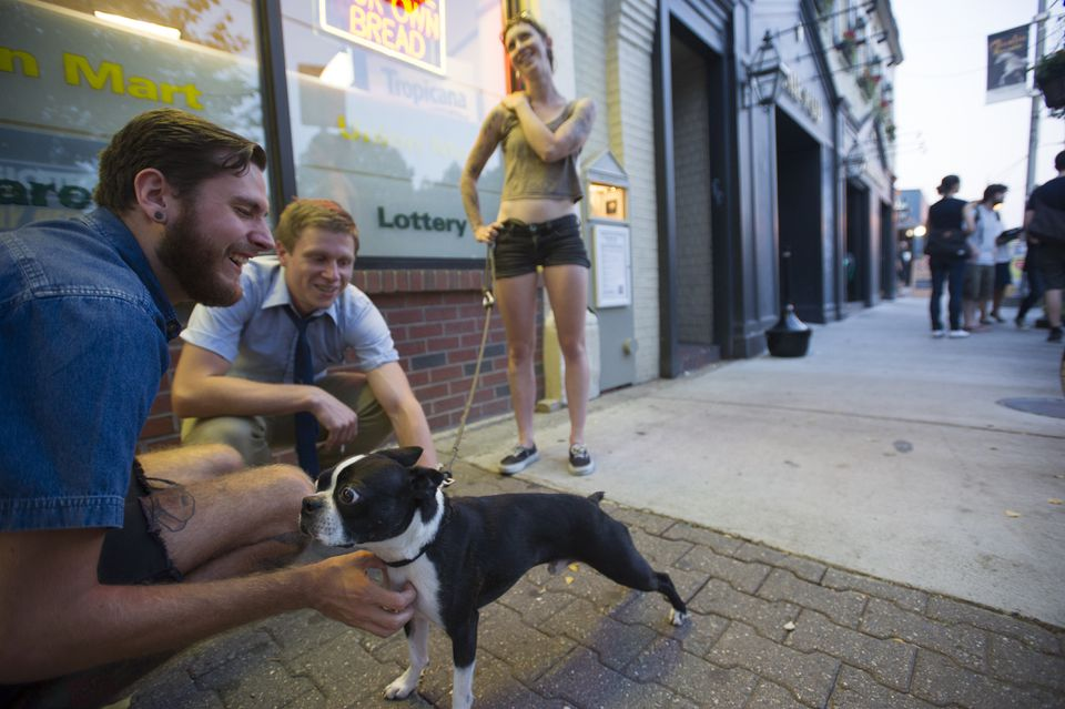 According to a city survey, Somerville residents are a happy set.