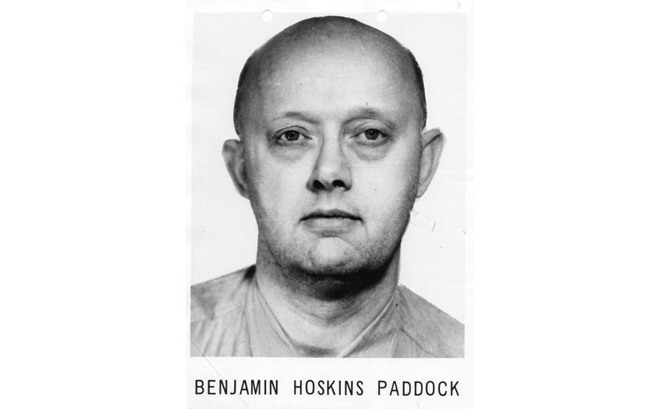 """Benjamin Hoskins Paddock was once described in a wanted poster as """"psychopathic'' with suicidal tendencies."""
